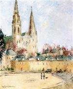 Gustave Loiseau  - Bilder Gemälde - The Chartres Cathedral