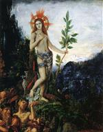 Gustave Moreau - Bilder Gemälde - Apollo Receiving the Shepherds' Offerings