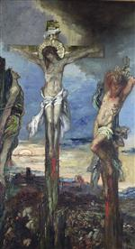 Gustave Moreau - Bilder Gemälde - Christ between the Two Thieves