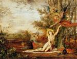 Gustave Moreau - Bilder Gemälde - Christ with Angels
