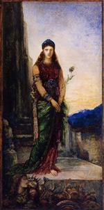 Gustave Moreau - Bilder Gemälde - Helen on the Walls of Troy