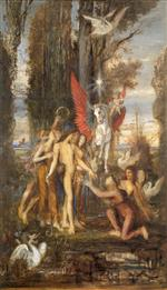 Gustave Moreau - Bilder Gemälde - Hesiod and the Muses
