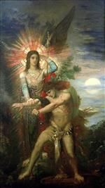 Gustave Moreau - Bilder Gemälde - Jacob and the Angel