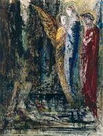 Gustave Moreau - Bilder Gemälde - Job and the Angels