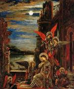 Gustave Moreau  - Bilder Gemälde - St. Cecilia (The Angels Announcing her Coming Martyrdom)