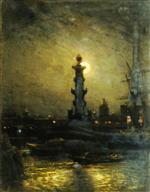 Alexei Petrowitsch Bogoljubow  - Bilder Gemälde - St.Petersburg at Night