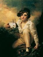 Henry Raeburn - Bilder Gemälde - Boy and Rabbit