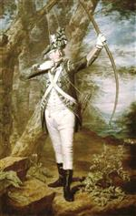 Henry Raeburn - Bilder Gemälde - Dr Nathaniel Spens in the uniform of the Royal Company of Archers