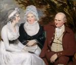 Henry Raeburn - Bilder Gemälde - John and Betty Johnstone and Miss Wedderburn