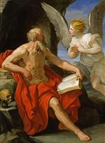 Guido Reni - Bilder Gemälde - Angel Appearing to St. Jerome