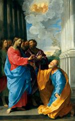 Guido Reni - Bilder Gemälde - Christ Handing the Keys to Saint Peter