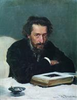 Ilya Efimovich Repin  - Bilder Gemälde - Portrait of composer and journalist Pavel Ivanovich Blaramberg