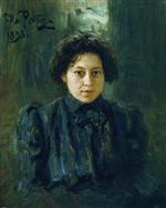 Ilya Efimovich Repin  - Bilder Gemälde - Portrait of the artist's daughter Nadezhda