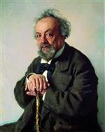 Ilya Efimovich Repin  - Bilder Gemälde - Portrait of the Author Alexey Pisemsky