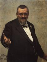 Ilya Efimovich Repin  - Bilder Gemälde - Portrait of the Lawyer Vladimir Spasovitch