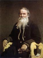 Ilya Efimovich Repin  - Bilder Gemälde - Portrait of the Narrator of the Folk Tales V. Tschegolionkov