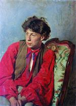 Ilya Efimovich Repin  - Bilder Gemälde - Portrait of V. E. Repin, the Artist's brother