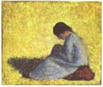 Georges Seurat - paintings - Seated Woman