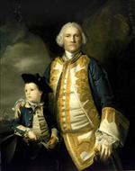 Joshua Reynolds - Bilder Gemälde - Admiral Francis Holburne and His Son
