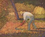 Georges Seurat - paintings - Peasant with a Hoe