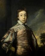 Joshua Reynolds - Bilder Gemälde - Boy in Van Dyck Dress