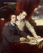 Joshua Reynolds  - Bilder Gemälde - James Paine Architect and His Son James