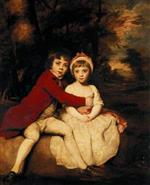 Joshua Reynolds  - Bilder Gemälde - John Parker and his sister Theresa