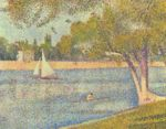 Georges Seurat - paintings - The Siene at La Gande Jatte, Spring