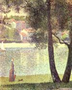 Georges Seurat - paintings - La Siene a Courbevoie