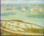 Georges Seurat - paintings - Port-en-bessin,  Entrance to the Harbour