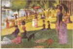 Georges Seurat - paintings - A Sunday on La Grande Jatte