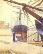 Georges Seurat - paintings - Quayside, Honfleur