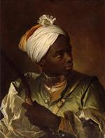 Hyacinthe Francois Rigaud  - Bilder Gemälde - Young Negro with a Bow