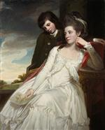 George Romney - Bilder Gemälde - Jane, Duchess of Gordon and her son George, Marquess of Huntly