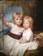 George Romney - Bilder Gemälde - Mary and Louise Kent