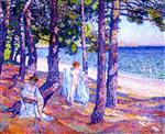 Theo van Rysselberghe - Bilder Gemälde - Bathers under the Pines