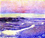 Theo van Rysselberghe - Bilder Gemälde - Beach at Low Tide