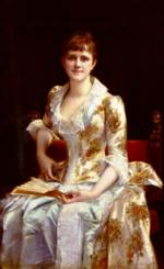 Alexandre Cabanel - paintings - Portait Of Jung Lady
