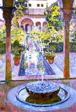 Theo van Rysselberghe  - Bilder Gemälde - Fountain at the Generalife in Grenada