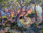 Theo van Rysselberghe  - Bilder Gemälde - In the Shade of the Pines