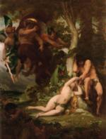 Alexandre Cabanel - paintings - The Expulsion of Adam and Eve from the Garden of Paradise