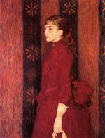 Theo van Rysselberghe  - Bilder Gemälde - Portrait of a Young Girl in Red