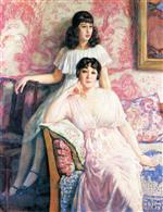Theo van Rysselberghe  - Bilder Gemälde - Portrait of Madame Boivin and Her Daughter Pierrette