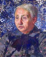 Theo van Rysselberghe  - Bilder Gemälde - Portrait of Madame Monnon, the Artist's Mother-in-Law