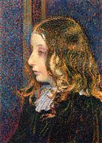 Theo van Rysselberghe  - Bilder Gemälde - Portrait of the Little Denise Maréchal