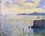Theo van Rysselberghe  - Bilder Gemälde - Sailboats and Estuary