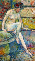 Theo van Rysselberghe  - Bilder Gemälde - Seated Bather