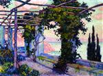 Theo van Rysselberghe  - Bilder Gemälde - Terrace of Hotel Palumbo at Ravello