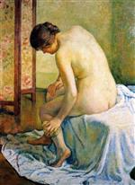 Theo van Rysselberghe  - Bilder Gemälde - The Bather