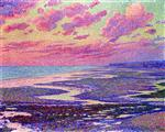 Theo van Rysselberghe  - Bilder Gemälde - The Beach at Ambleteuse at Low Tide